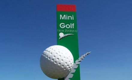 $14 for 18 Holes of Mini Golf & Three Laps of the V8 Simulator (value $29)
