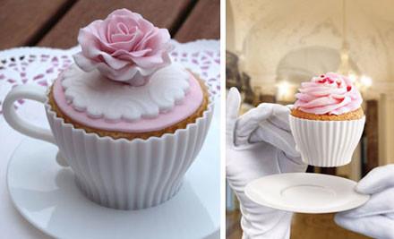 $12 for a Tea Cupcake Set Eight Piece Bake & Serve Set