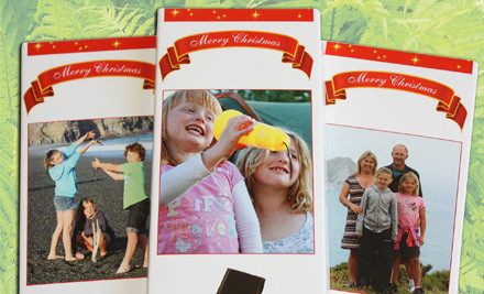 $9 for One, $40 for Five, $75 for 10, or $148 for 20 Personalised Xmas Chocolate Bars incl. Nationwide Delivery (value up to $328.95)