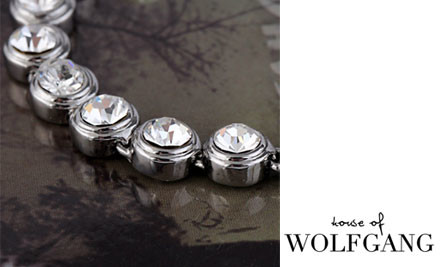 $16 for an 18K White Gold-Plated Tennis Bracelet with Swarovski Elements incl. Nationwide Delivery
