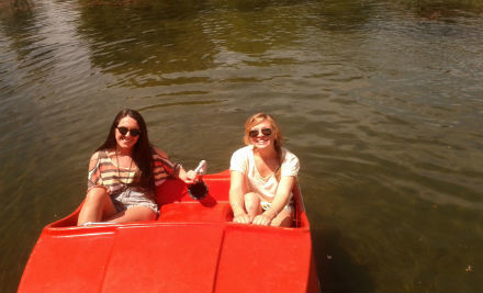 $10 for a 15-Minute Paddleboat Hire or Double Canoe Hire for Two & Two Frosty Boy Ice Creams (value $18)
