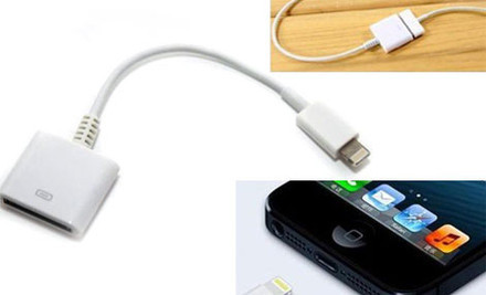 From $15 for an iPhone 5 Car Charger & Lighting Eight Pin Charging Cable, $15 for an Adapter or $15 for a Corded Adapter
