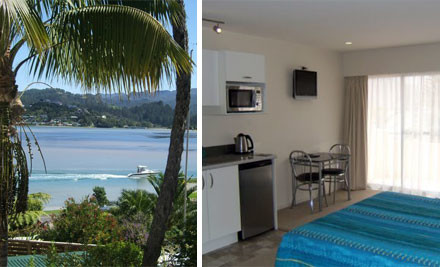 $295 for Two Nights for Two in a Studio Unit or $320 for Two Nights for Two in a One Bedroom Unit  incl. Wifi, Kayaks & Bicycles, Continental Breakfast, Late Checkout & Spades for Hot Water Beach