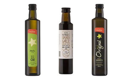$45 for a Prenzel Gift Pack incl. Garlic Sauce, Garlic Oil, Original Vinaigrette & Display Rack (value $72)