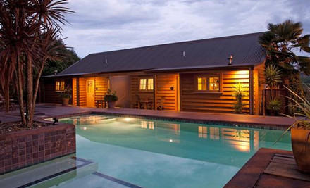 $245 for a One-Night Luxury Waikato Escape for Two incl. Bottle of Wine on Arrival, Antipasto Platter, Full Breakfast Provisions & Wireless Internet (value up to $495)