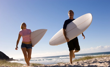 $40 for a Two-Hour Surfing or Stand-Up Paddle Lesson (value $80)