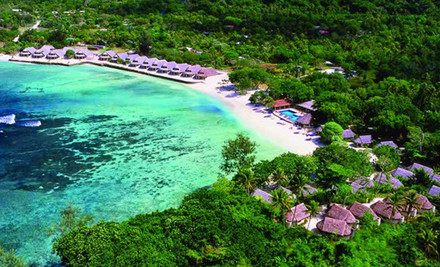 Up to 56% off Five or Seven Nights for Two in a Garden Fare incl. a One-Hour Melanesian Cooking Class & Beach Massages at Breakas Beach Resort, Vanuatu (value up to $2,636)