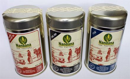 $19 for Christmas Tea Canister Bundle: 100g of English Breakfast, 100g Chai & 100g Earl Grey Quality Sri Lankan Tea