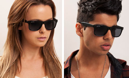 $1 for Chris Cross Classic Black Designer Sunglasses plus $15 Nationwide Shipping, Handling & Insurance (value $179)