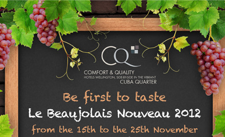 $30 for One, $54 for Two or $99 for Four People for a Special French Two-Course Meal & Beaujolais Nouveau (value up to $176)