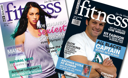 $25 for a 12-Month New Zealand Fitness Magazine Subscription incl. Delivery (value $50)
