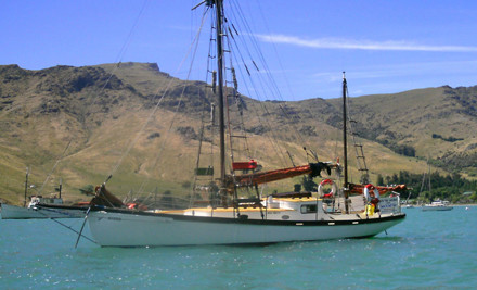$165 for a Three-Hour Sailing Charter for up to Six People on the S.V. Oyster in Lyttelton Harbour (value $250)