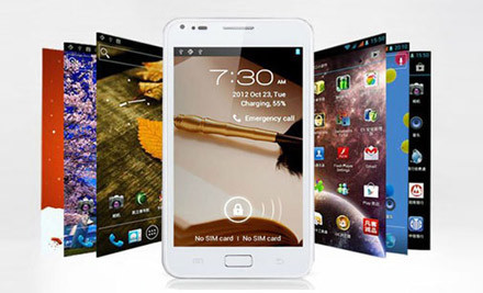 $299 for a 8GB, $319 for a 16GB or $329 for a 32GB 5.0 Inch 8MP Android 4.0.4 OS Dual Sim/Network HD Smartphone