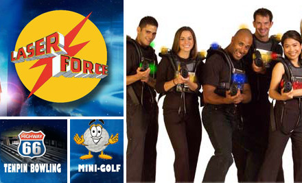 $7 For One Game of Lasertag & One Game of Mini Golf (value $14)