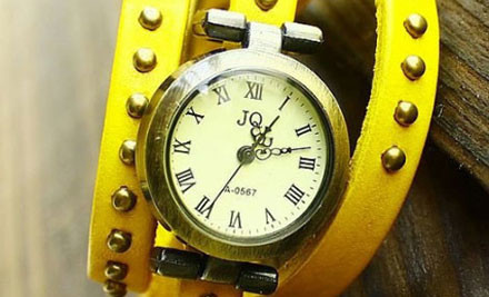 $12 for a Vintage Leather Studded Watch
