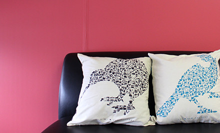 From $18 for Two Kiwiana Pictograph Cushion Covers