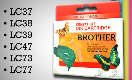 $27 for Five Ink Cartridges Compatible with Epson, Brother or Canon Printers or $39 for a Set of Ink Cartridges Compatible with Hewlett Packard Printers incl. Nationwide Delivery (value up to $109)