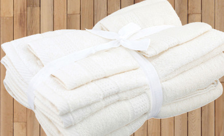 $39 for 6 Piece Egyptian Cotton Loop Towel Set or $49 with Matching Bath Mat