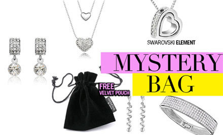 From $14 for a Swarovski Elements Jewellery Mystery Bag incl. Nationwide Delivery