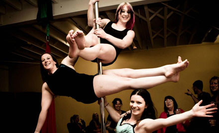 $150 for a One-Hour Purely Pole/Burlesque or Boys vs Girls Party incl. Nibbles or $199 for 90-Minutes for up to 30 People (value up to $1,050)