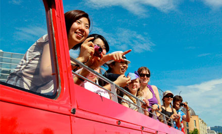 Up to 53% off One-Hour Open Top Double Decker Bus Tour (value up to $29)