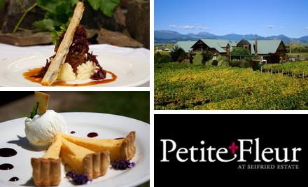 $10 for $25 Food & Beverage Voucher at Petite Fleur at Seifried Estate (value $25)