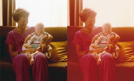 $100 to Transfer 400 Photos into Digital Files incl. Colour Retouch (value $355)