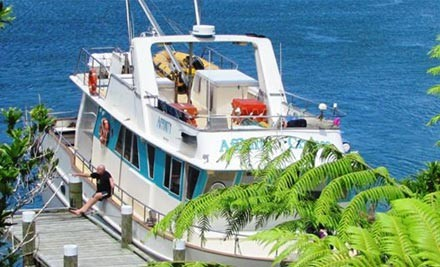 $2,999 for a One Night Fully Catered Marlborough Sounds Charter incl. Full Crew, Catering for up to 16 People or $5,999 for Two Nights (value up to $12,000)