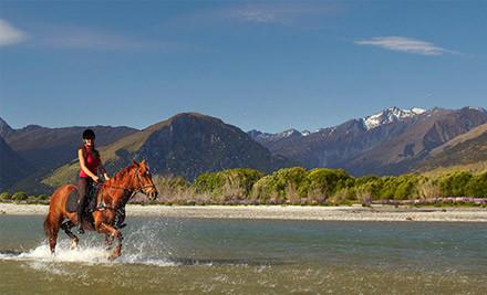 $99 for 2.5-Hour Horse Trek incl. Return Transport from Queenstown (Value $185)