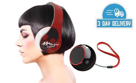 $45 for Havit Snap-Back Headphones & Portable Speaker Combo incl. Nationwide Delivery