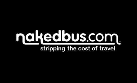 $10 for One Way Nakedbus.com Trip (value up to $49)