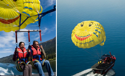 Up to 65% off a Parasailing Flight & Photo Gift Pack (value up to $306)