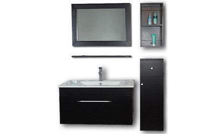 $499 for a Five-Piece Vanity Unit Set in Black or White