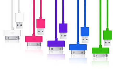 $10 for a Coloured Three Metre iPhone Cable incl. Nationwide Delivery