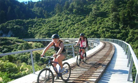 $279 for a Mid-Week Mountain Bike Trail Adventure for Two incl. Two Nights Accommodation, Breakfasts, Bike Hire & Return Transfers from TCB Board & Bike & Alpine Motel Ohakune (value $562)