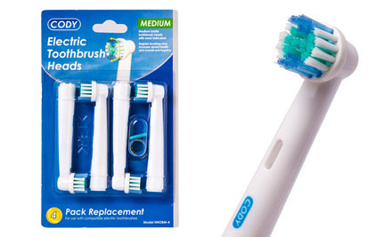 $9 for Four or $13 for Eight or $19 for Twelve Electric Toothbrush Heads Compatible with Braun Oral B Electric Toothbrushes incl. Nationwide Delivery