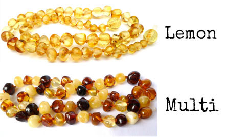 From $25 for Authentic Baltic Amber Teething Beads incl. Nationwide Delivery