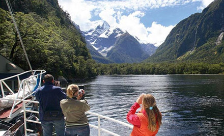 $155 Per Person for a Milford Track Guided Morning Walk & a Milford Sound Cruise