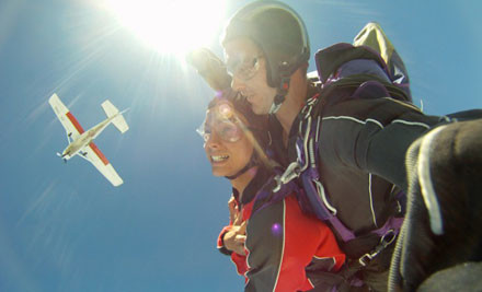 Up to 49% off a Tandem Skydive (value up to $420)