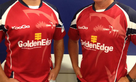 Up to 61% off a Men's or Kids' Kooga Tasman Makos Replica Jersey incl. Nationwide Delivery