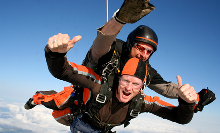 $195 for 12,000ft Tandem Skydive & a $30 Voucher Towards USB Video or Photo Packs (value $370)