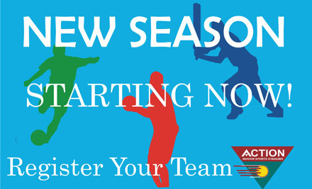 50% off an Indoor Sports Team's Season Fees incl. Indoor Netball, Dodgeball or Touch