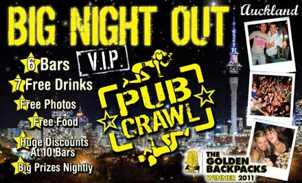 $17 for The Big Night Out VIP Tour in Auckland (value $40)