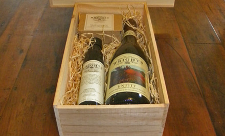 $40 for a Deluxe Gift Box - a Bottle of Wrights Entity Methode Bubbly, Olive Oil & Wrights Dukkah incl. Delivery (value $70)