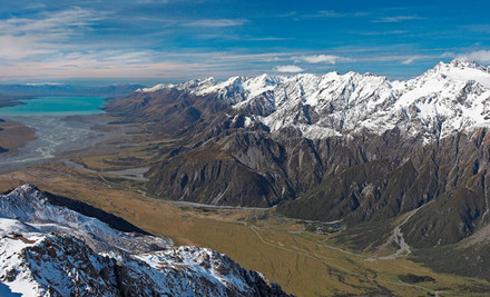 $89 for Mount Cook Day Tour Queenstown to Christchurch or $99 for Mount Cook Day Tour Christchurch to Queenstown (value up to $264)