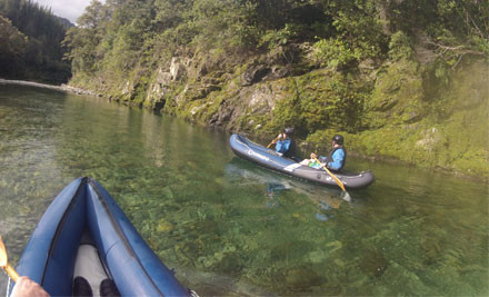46% off a  Canoe trip, Lunch & Accommodation on the Pelorus & Wakamarina Rivers for Two people with Blue moon Lodge and Pelorus Eco Adventures (value up to $330)