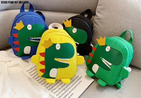 Dinosaur Cartoon Bag - Five Colours Available & Option for Two with Free Delivery