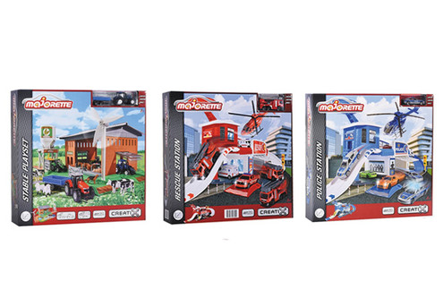 Majorette Farm Stable, Police Station or Rescue Station Playset