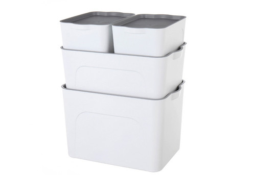 Four-Piece Stackable Home Plastic Organiser Box - Option for Two