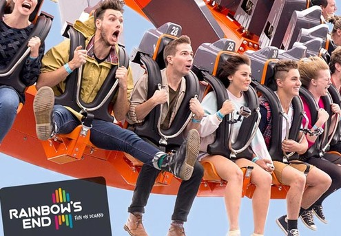 Grab a Mate & Save with Double Superpasses for Rainbow's End incl. Unlimited Entry to all Rides incl. The Latest Spectra XD Dark Ride - Option for Weekdays or Weekends